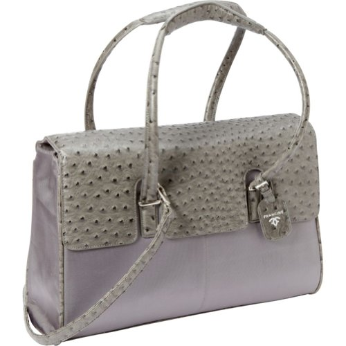 Women In Business Francine Collection - 15.6'' Gray Ostrich London Laptop Case by Women In Business