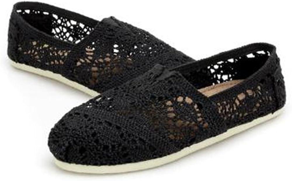 M US Men US Women // 4.5 D M Womens Espadrille Flats Sneakers Casual Canvas Shoes Low Top Flat Fashion Black 37//6 B