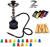 black 3 hose hookah - Zebra Smoke Series: 14
