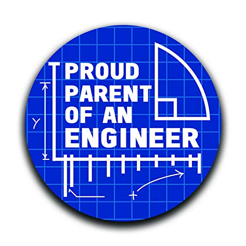 (More Shiz Proud Parent of an Engineer Decal Sticker Car Truck Van Bumper Window Laptop Cup Wall - Two 5 Inch Decals - MKS0358)