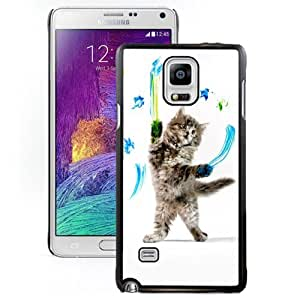 New Personalized Custom Designed For Samsung Galaxy Note 4 N910A N910T N910P N910V N910R4 Phone Case For Cat Warrior Phone Case Cover