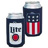 Miller Lite Patriotic USA Can Cooler