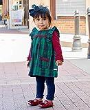 RuffleButts Baby/Toddler Girls Navy Footless Ruffle