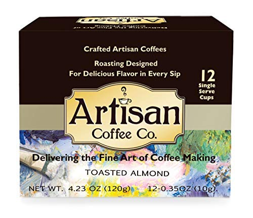 (Artisan Coffee Fresh Premium k cups Available in (10) flavors 72 Count… (Toasted Almond, 72 count))