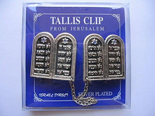 Breast plates silver plated 10 commandments TALIT CLIPS tallis talis tallit (Tallis Clip)