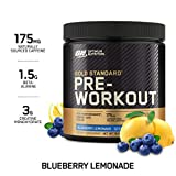 Optimum Nutrition Gold Standard Pre-Workout with Creatine, Beta-Alanine, and Caffeine for Energy, Keto Friendly, Blueberry Lemonade, 30 Servings (Packaging May Vary)
