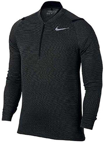 NIKE ナイキ エアロリアクト ゴルフウェア ハーフジップ ロングスリーブ 長袖シャツ XLサイズ(176-185cm) 国内正規品 833279 ブラック