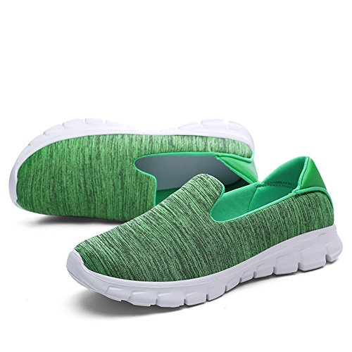 Loafers Sneakers On Shoes Lightweight Slip Green Women's Greaten Walking Flats Casual q4wITOS8