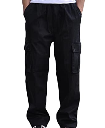 EKU Men's Outdoor Athletic Big And Tall Military Cargo Pants Black ...