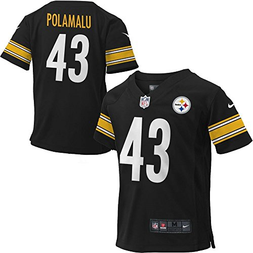 Troy Polamalu Pittsburgh Steelers Black NFL Infants Nike Replica Home Jersey 24 Month