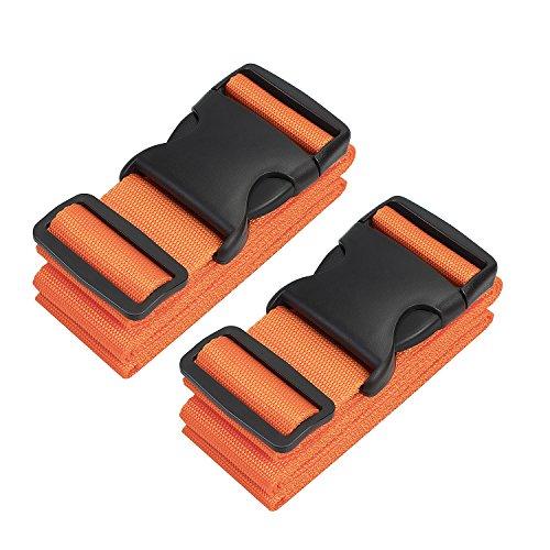 Luggage Starps Galopar Suitcase Belt Adjustable Suitcase Strap Travel Accessories-2 Pack(Orange) …