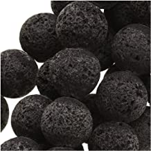 Real Black Lava Round Beads 8mm / 15.5 Inch Strand