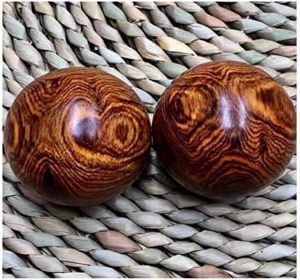 フィットネスボール、Huanghualiゴーストフェイス健康ボール、健康ソリッドウッドマッサージボール、ハンドボール、ギフト、古い材料健康ボール、フィットネスボール4.5サイズ保健ボールペア (サイズ : 4.5cm)