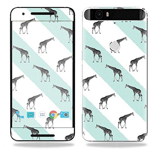 UPC 053722121447, MightySkins Protective Vinyl Skin Decal for Huawei Nexus 6P case wrap cover sticker skins Aqua Giraffe