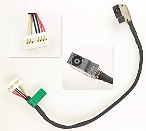 QUETTERLEE New DC Jack Replacement for HP 14-AB 14-J 15-AB 15T-AB 15Z-AB 15-BS 15-BW 17-AB 17-AK 17-X 250 G6 255 G6 DC in Cable 799749-F17 799749-S17 799749-T17 799749-Y17 806746-001 8pin 7line 19CM