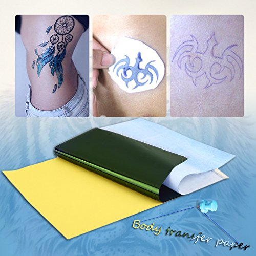 DierCosy 10Sheets Tattoo Transfer Carbon Paper Supply Tracing Copy Body Art Stencil A4 Health and Beauty from DierCosy
