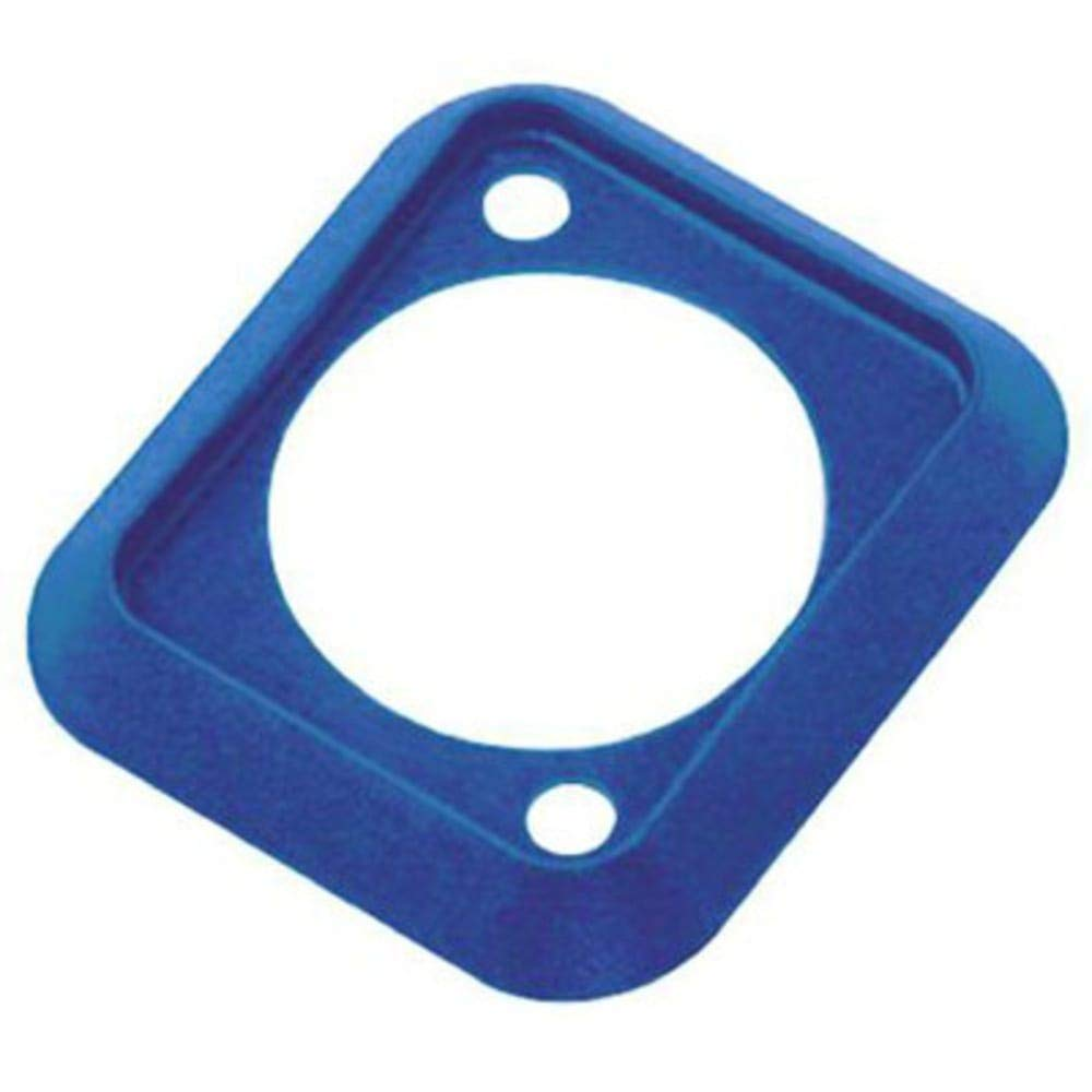 Gasket - Rubber for use with D Size Chassis connectors - Blue, Pack of 10