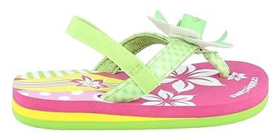 c7443d2e27e7 CRABBYCLAWS Girl s Surfboard (Toddler Little Kid Big Kid) Lime Patent Sandal  5