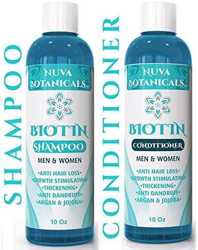 Biotin Shampoo and Conditioner Set For Hair Growth – Natural Thickening Treatment For Hair Loss and Thinning – For Women and Men