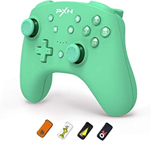 PXN 9607X Nintendo Switch Controllers,Remote Pro Controller Gamepad Joystick for Nintendo Switch/Switch Lite,Supports NFC,Turbo,Screenshot,Gyro Axis and Dual Vibratio,Switch Joycom Controller (Green)