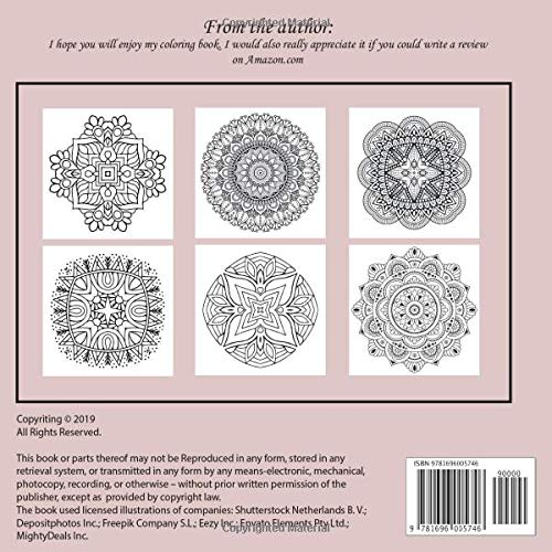 Adult Coloring Book for Girls Mandala 100+ pages – Reality is whatever refuses to go away when I stop believing in it.
