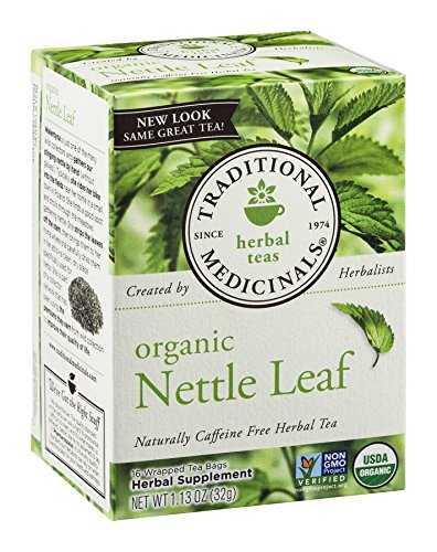 Traditional Medicinals Tea Org Nettle Leaf, 16-Count Boxes (Pack of 3) ()