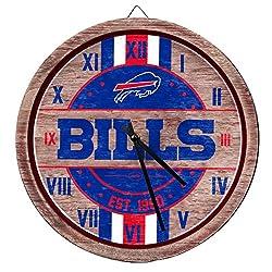 FOCO NFL Buffalo Bills Team Logo Wood Barrel Wall ClockTeam Logo Wood Barrel Wall Clock, Team Color, One Size
