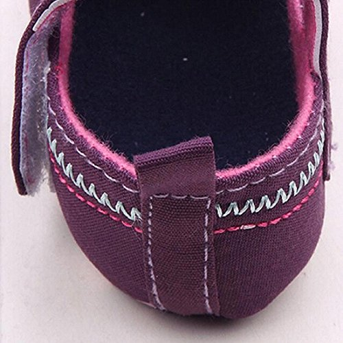 Auxma Para niñas Moda bebé zapatos mariposa niño suela suave Morado