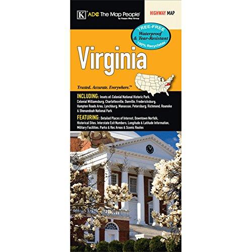 - Virginia State Waterproof Map
