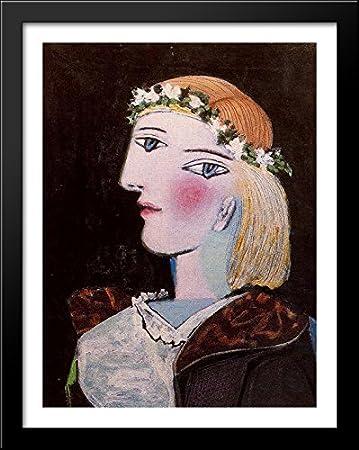 Amazon.com: Portrait of Marie-Thérèse Walter with garland 28x36 ...