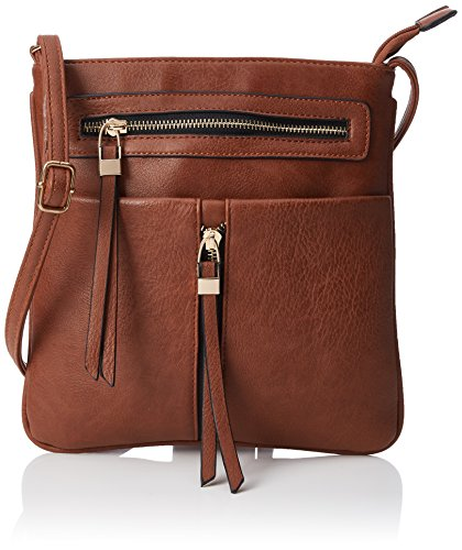 Zipper Bag SwankySwans Bag Brown Body Women's Emily Brown Cross HxHWq1EYR