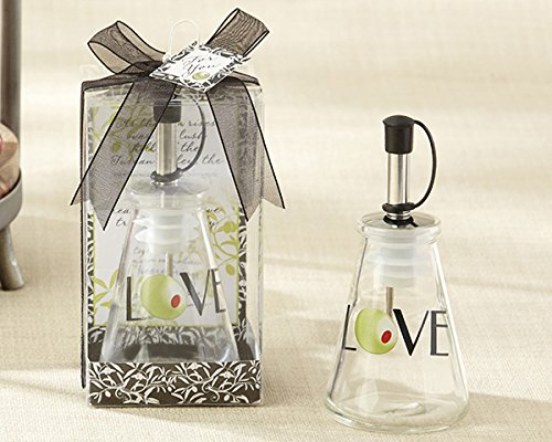 50 ''Olive You!'' Glass LOVE Oil Bottle in Signature Tuscan Boxes by Kate Aspen