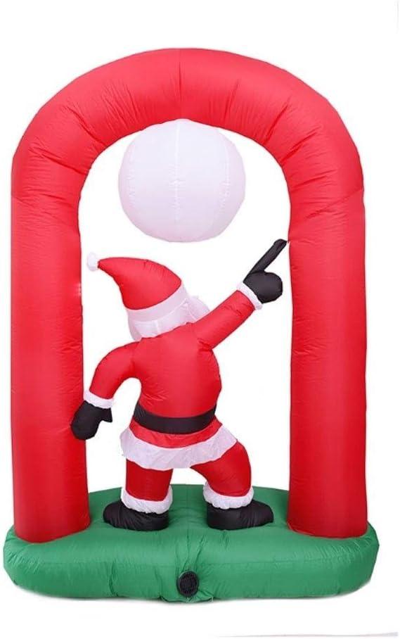 MUMUMI Arco Inflable Navidad Modelo de Santa Claus con la rotación ...