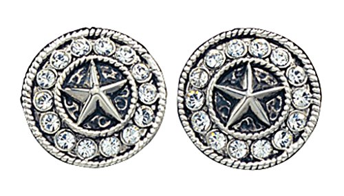 Montana Silversmiths Women's Starlight Concho Earrings Silver One Size