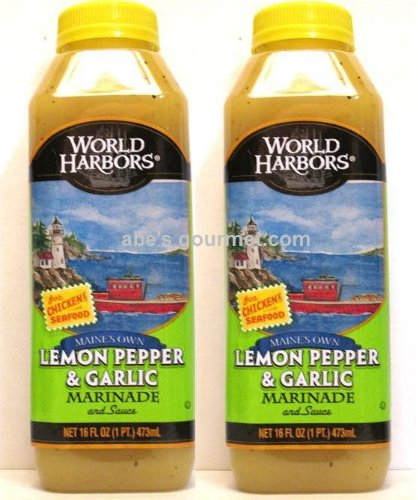World Harbors Marinade Maine's Own Lemon Pepper & Garlic (Pack of 2)