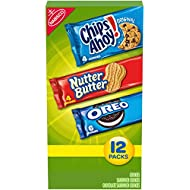 Nabisco Cookie Variety Pack, OREO, Nutter Butter, CHIPS AHOY!, 12 Snack Packs