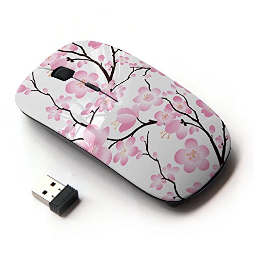 Mouse Flower (KOOLmouse [ Optical 2.4G Wireless Mouse ] [ Wallpaper Pink Flowers Floral Tree Branch ])