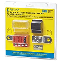 Juego de bloque de fusibles para montaje en terminal de batería ST-Blade de Blue Sea Systems