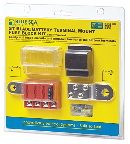(Blue Sea Systems ST-Blade Battery Terminal Mount Fuse Block Kit)