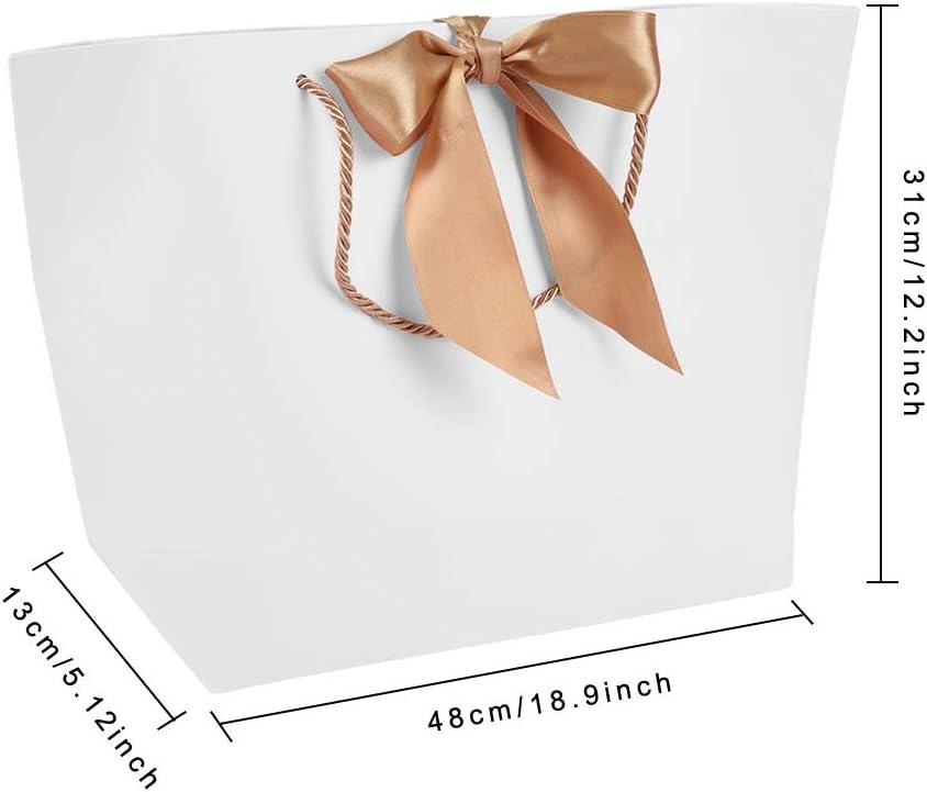 10 sacs de papier de cadeau de cadeau de PCs//lot avec la poign/ée pour les v/êtements faisant des emplettes maquillage emballage alimentaire 1