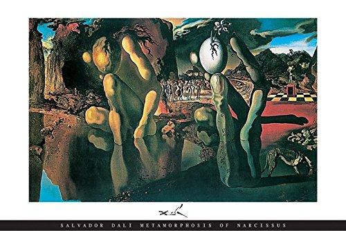 - BEYONDTHEWALL Archive Salvador Dali Metamorphosis of Narcissus Surrealist Fine Art Print (Unframed 24x36 Poster)