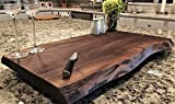 Black Walnut Extra Large, Gorgeous, Full-of-Character, Forest-to-Table Solid Double Live Edge Wood Charcuterie/Appetizer/Dessert/Grazing/Serving Board. 100% USA Handcrafted. 27 x 15.5 x 1.25''