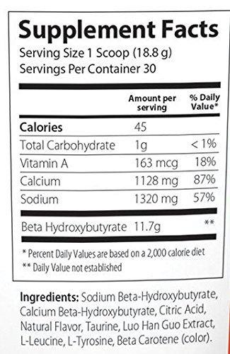 InstaKetones Orange Burst 11.7g GoBHB Per Scoop (Caffeine Free) (30 Servings) Exogenous Ketones 1.24 lbs by Julian Bakery (Image #2)