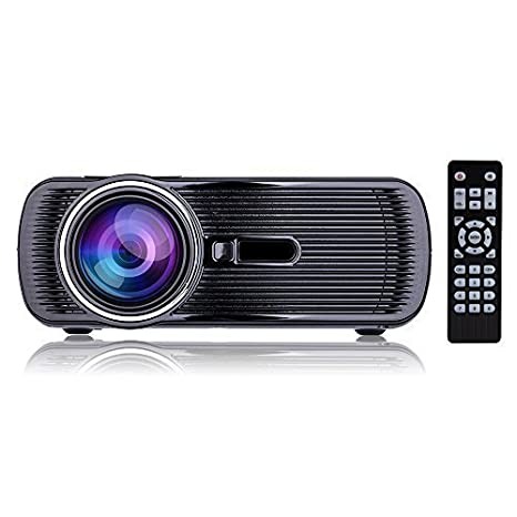 "Updated Mini LED Projector, 1080p HD LCD Home Cinema Theater, Full Color 130"" Image for Multimedia Entertainment, Optical Keystone, HDMI/VGA/USB/AV/TV ..."