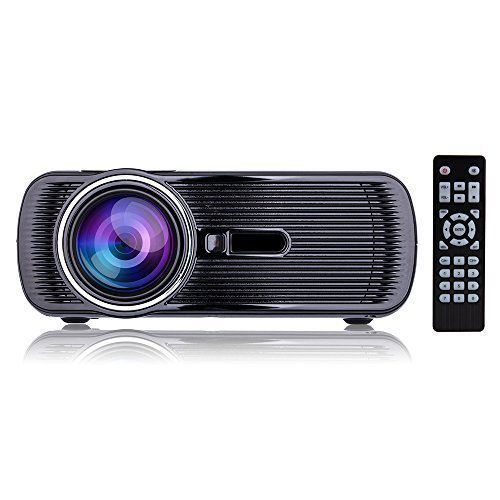 "Updated Mini LED Projector, 1080p HD LCD Home Cinema Theater, Full Color 130"" Image for Multimedia Entertainment, Optical Keystone, HDMI/VGA/USB/AV/TV for Video, Movie, Games Night - Black"
