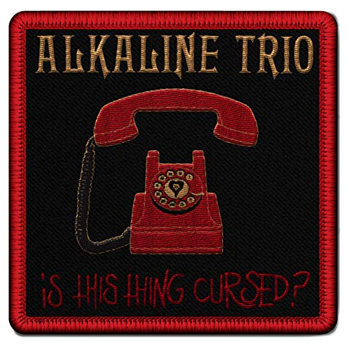 Alkaline Trio Men's Phone Patch Embroidered Patch Red