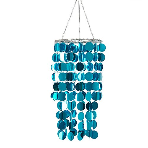 FlavorThings Blue Bling Hanging Chandelier Great idea for Wedding Chandeliers Centerpieces Decorations and Any Event Party Decor ()