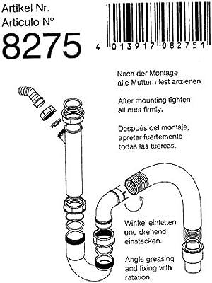 25 unidades. Teka Sifón 40008275 Sifón flexible – Desagüe para ...