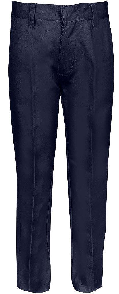 Premium Flat Front Pants Girls Adjustable Waist – Khaki, Navy, Black, Grey