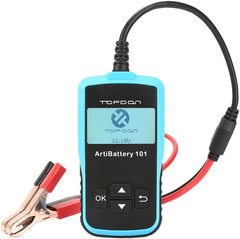 12v 24v Car Auto Battery Load Tester on Cranking System and Charging System Scan Tool TT AB101 100-2000 CCA Battery Tester Automotive for Cars//SUVs//Light Trucks Topdon Car Battery Tester